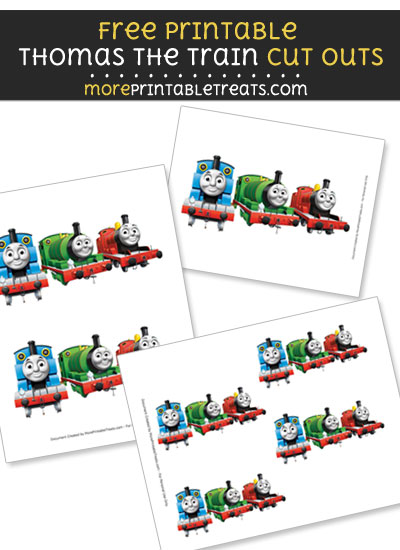 Free Thomas the Train and Friends Cut Outs - Printable - Thomas the Train and Friends