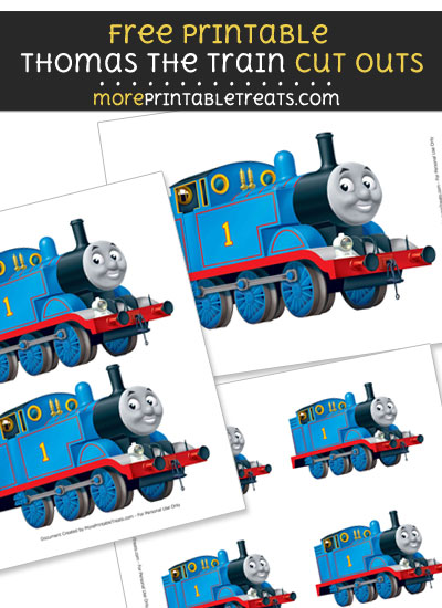 Free Thomas the Train Sideview Cut Outs - Printable - Thomas the Train and Friends