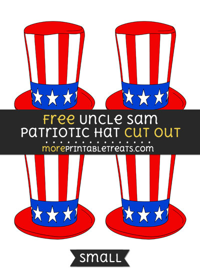Free Uncle Sam Patriotic Hat Cut Out - Small Size Printable