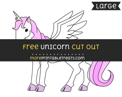 Free Unicorn Cut Out - Large size printable