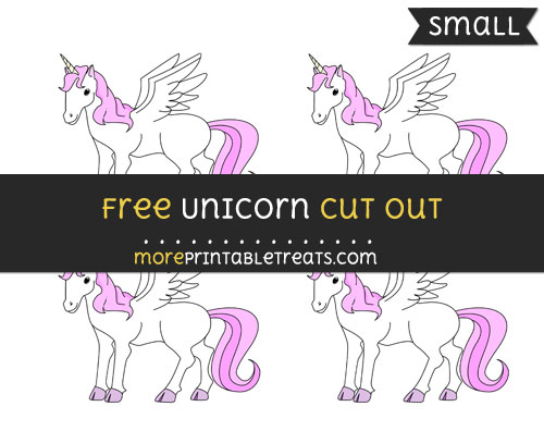 Free Unicorn Cut Out - Small Size Printable