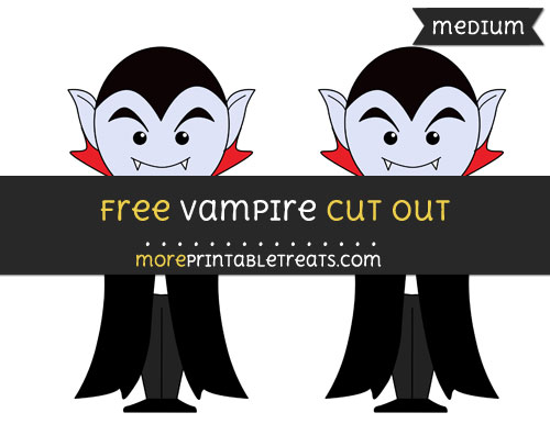 Free Vampire Cut Out - Medium Size Printable