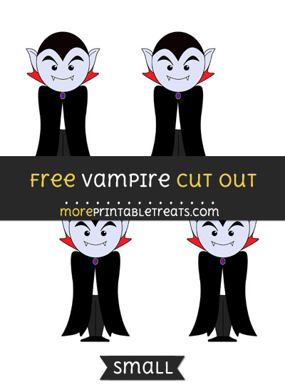 Free Vampire Cut Out - Small Size Printable