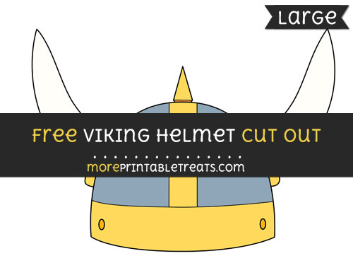 Free Viking Helmet Cut Out - Large size printable