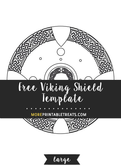 shield template to print - viking shield template large