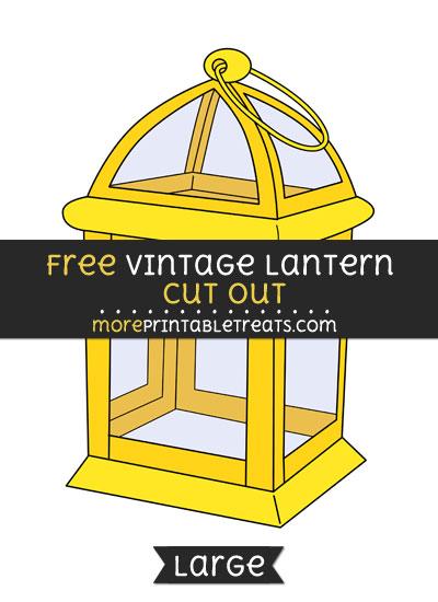 Free Vintage Lantern Cut Out - Large size printable