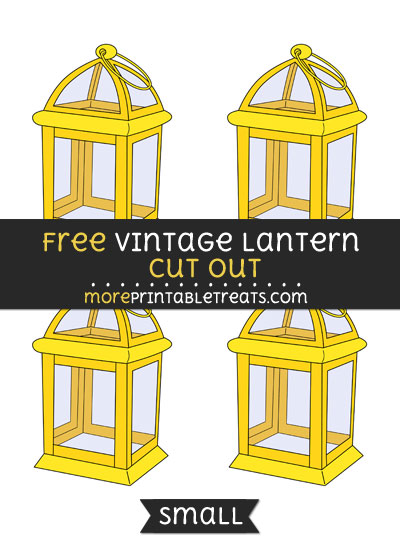 Free Vintage Lantern Cut Out - Small Size Printable