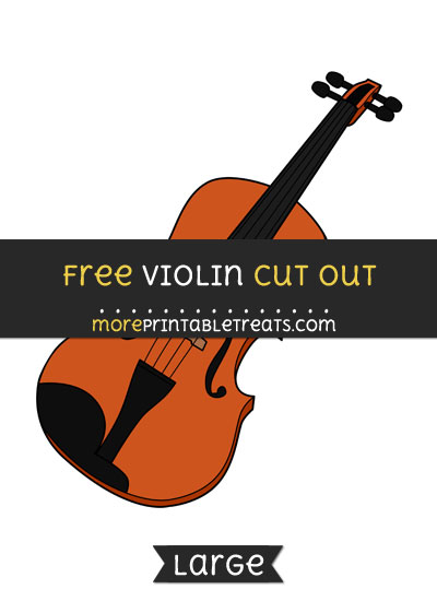 Free Violin Cut Out - Large size printable