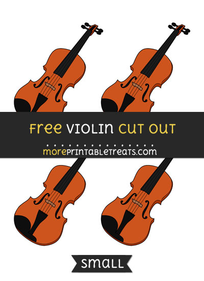 Free Violin Cut Out - Small Size Printable