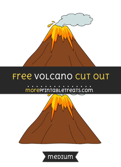 Free Volcano Cut Out - Medium Size Printable
