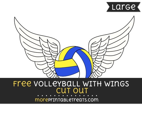 Free Volleyball With Wings Cut Out - Large size printable