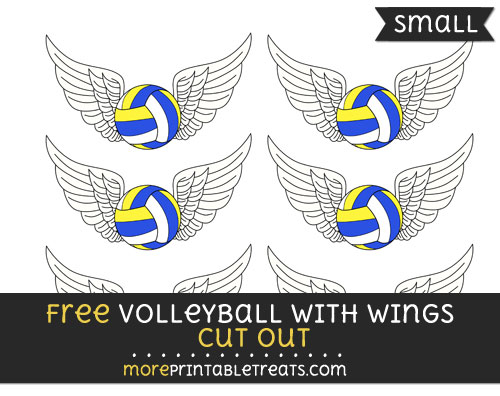 Free Volleyball With Wings Cut Out - Small Size Printable