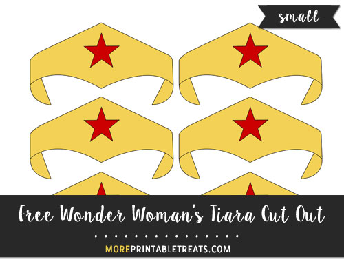 Wonder Womans Tiara Cut Out Small