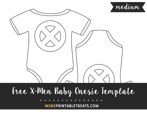 X-Men Baby Onesie Template – Medium