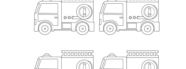 Fire Truck Template - Small