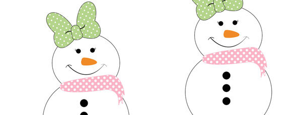 Girl Country Snowman Cut Out