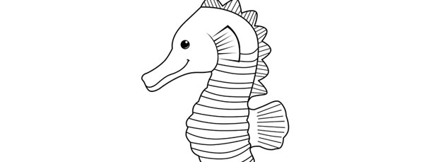 Seahorse Template Cut Out from static.moreprintabletreats.com