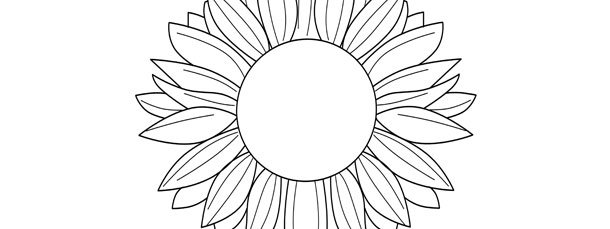 Banner Black And White Black And White Sunflower Clipart - Sunflower Line  Drawing Png Transparent PNG - 760x1000 - Free Download on NicePNG