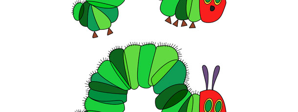 The Very Hungry Caterpillar Cut Out Medium