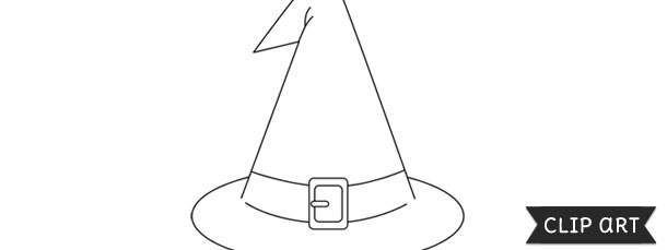 Witch Hat Template Clipart