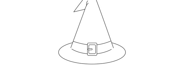 Witch Hat Template Large