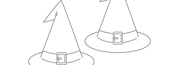 Witch Hat Template Medium