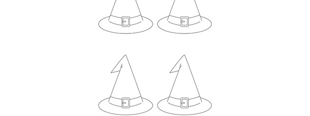 Witch Hat Template Small