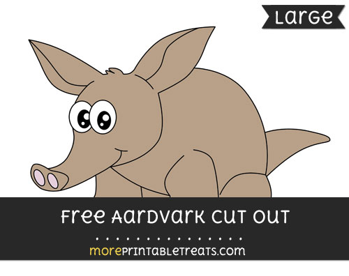 Free Aardvark Cut Out - Large