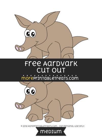 Free Aardvark Cut Out - Medium