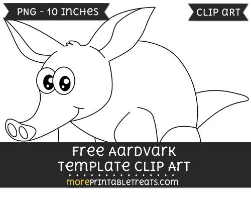 Free Aardvark Template - Clipart