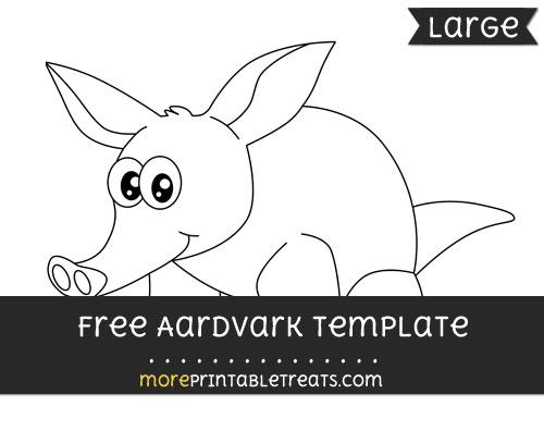 Free Aardvark Template - Large