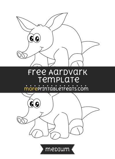 Free Aardvark Template - Medium