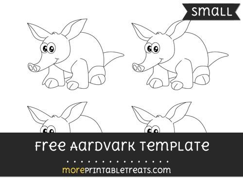 Free Aardvark Template - Small