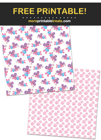 Free Printable Abby Cadabby Background Paper