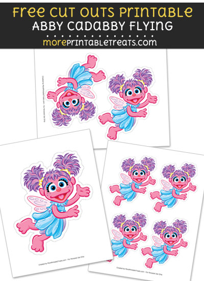 Free Abby Cadabby Flying Cut Out Printable with Dotted Lines - Sesame Street