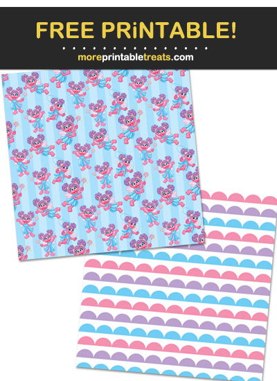Free Printable Abby Cadabby Pattern Paper