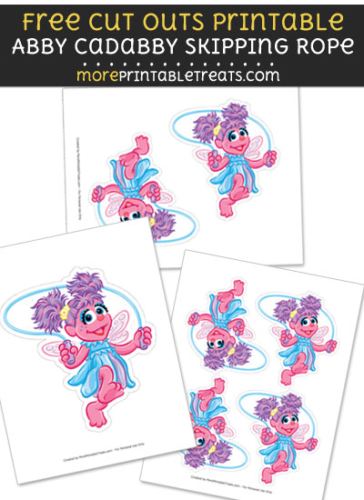 Free Abby Cadabby Skippingn Rope Cut Out Printable with Dotted Lines - Sesame Street