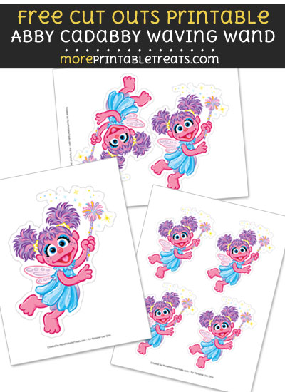 Free Abby Cadabby Waving Wand Cut Out Printable with Dotted Lines - Sesame Street