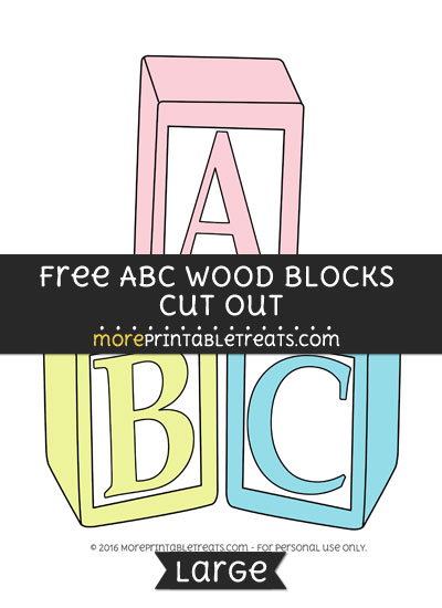 Free Abc Wood Blocks Cut Out - Large
