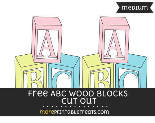 Free Abc Wood Blocks Cut Out - Medium
