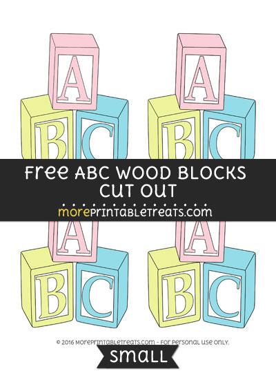 Free Abc Wood Blocks Cut Out -Small