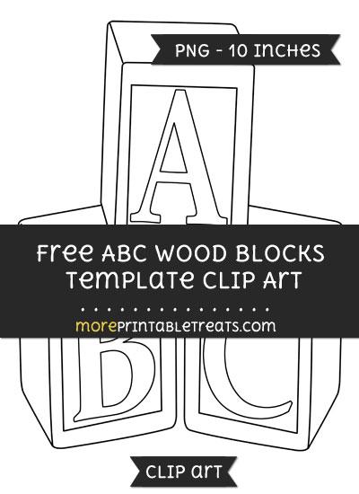 Free Abc Wood Blocks Template - Clipart