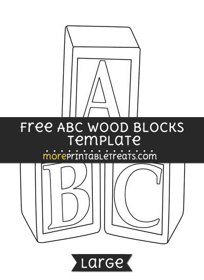 Free Abc Wood Blocks Template - Large