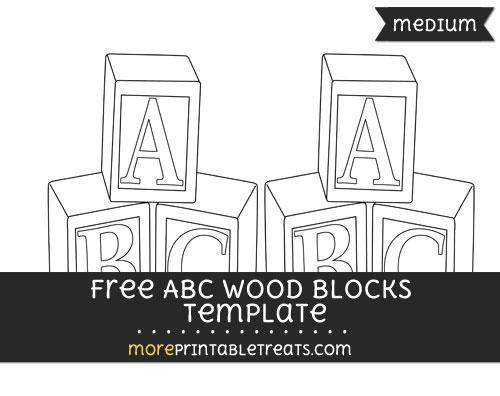Free Abc Wood Blocks Template - Medium