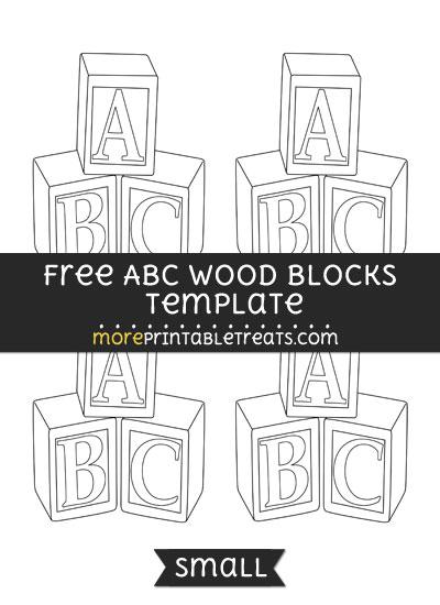 Free Abc Wood Blocks Template - Small