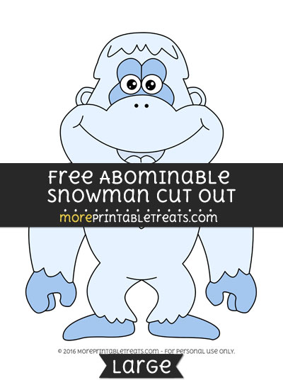 Free Abominable Snowman Cut Out - Large