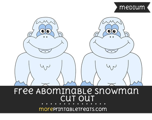 Free Abominable Snowman Cut Out - Medium