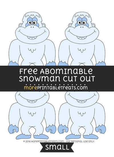 Free Abominable Snowman Cut Out -Small