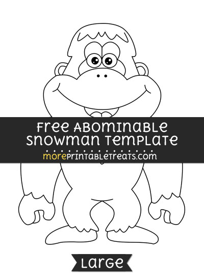 Free Abominable Snowman Template - Large