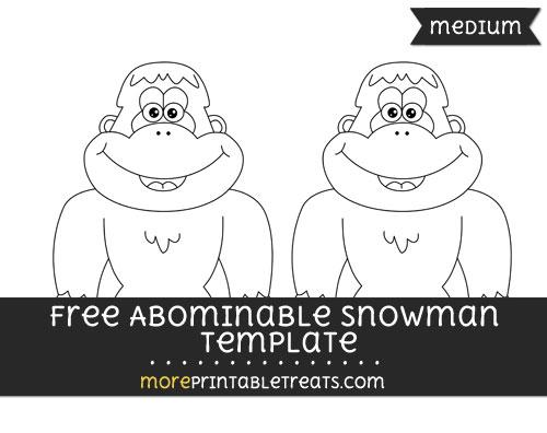 Free Abominable Snowman Template - Medium